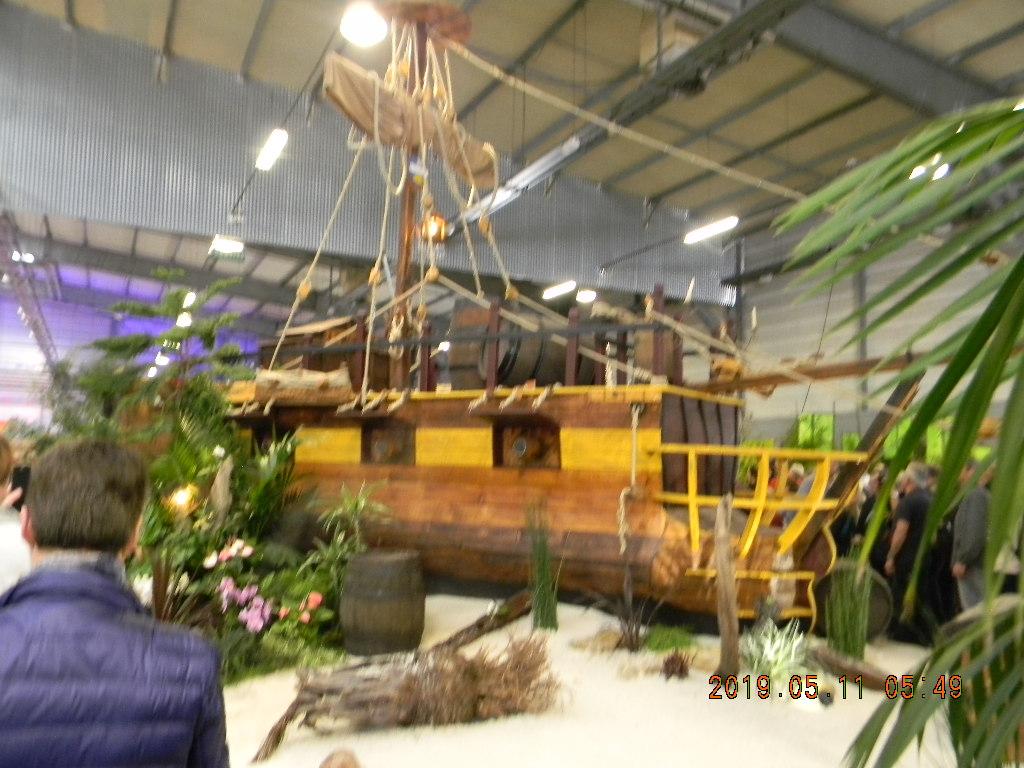 bateau corsaire réalisé par un Lycée