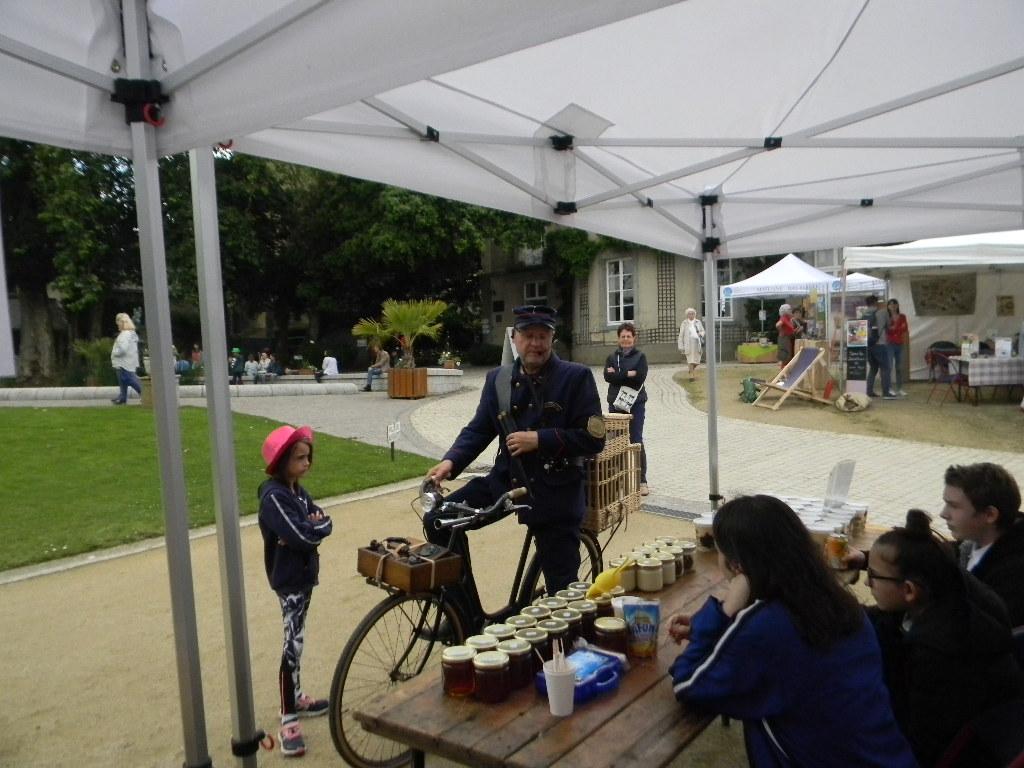 Présentation de l'apiculture et vente de miel